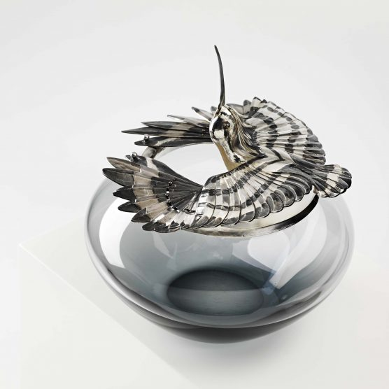 1. Hoopoe Sun Worshiper Box. Chased silver and glass. 30 x 25 x 25cm. 2015 Bryony Knox.