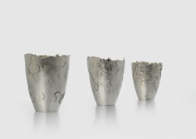 'three of a kind' Fine Silver  H 95mm x 60 mm