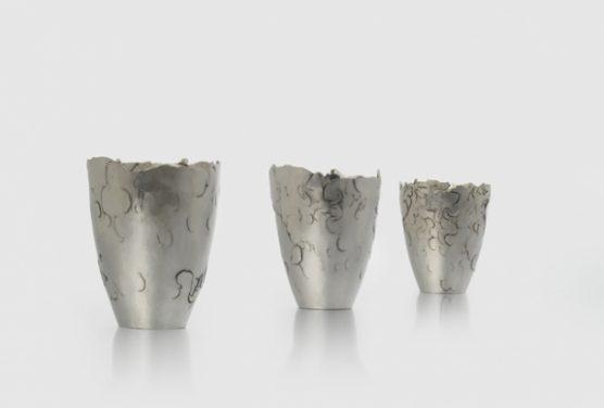 'three of a kind' Fine Silver  H 95mm x 60 mm