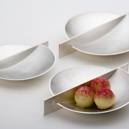 Condiment Dishes Fine silver  120mm, and 100mm diameter