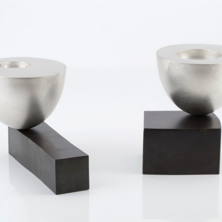 Juliette Bigley, Balancing Bowl (1 and 2), Patinated Gilding Metal and Sterling Silver, from 200x200x100, 2016, low res (1)