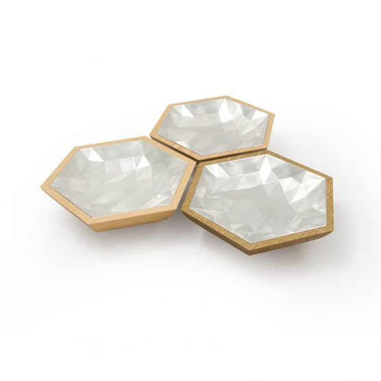 faceted hexagon bowls