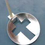 Cut Score and fold= Cube + Cross candle holder. 30cm dia