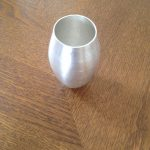 title:  vase  material:  Britannia silver  size:  11cms h x 6 cms w - 105 g  date:  2014  place: London  ownership: private collection