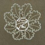Oak Leaf Sweet Bowl Silver, multiple cast element with cast acorn.