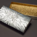 Silver, Black and Yellow Gilding, hand engraved box.
