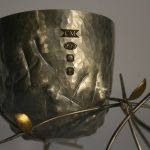 Degree Show Collection, Ulster University. Spun vessel with silver and Gold Leaf base.
