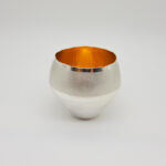Britannia Silver Raised Vessel Featuring Contrast Polish & Gold Interior