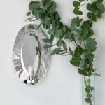 Britannia Silver Iris Wall Sconce