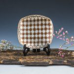 mokume gane dish made by fine silver, copper and gilding metal