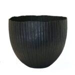 Large fluted copper bowl