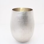 Large stone textured vase