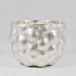 Bulbous Rustic Cup, Fine Silver