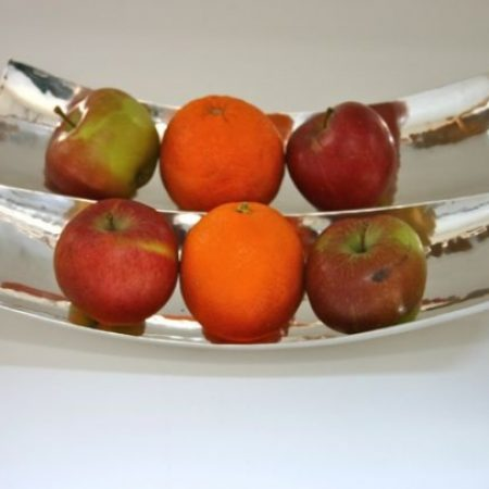 Fruit Bowl.Centre piece bowl for fruit, chocolates biscuits etc. Hammered finish produces exciting and interesting reflections