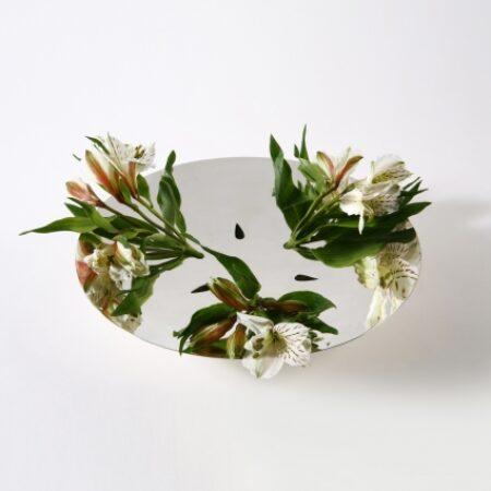 Lacuna Sterling silver vase. Diameter 28 cm.