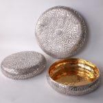 Acid etched brain coral bowls