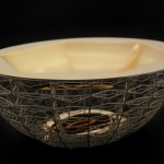 Infinity Bowl Sterling silver, 18ct gold, silver gilt  L/W/H: 260x160x140mm  2015  Photography: Graham Clark