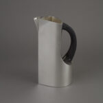 Water Jug, black wood handle (2017) Sterling silver, 17cm x 15cm x 10cm